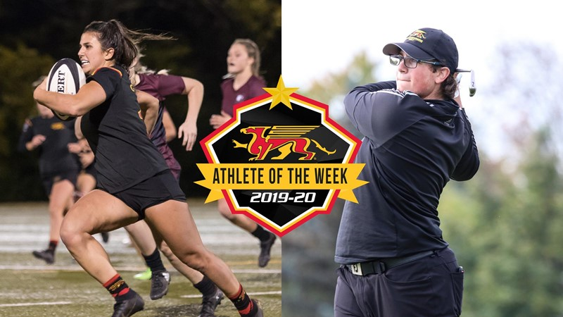 Julia Schell (WRGBY) and Justin Allen (Golf) Named Gryphon MUSCLE MLK Athletes of the Week