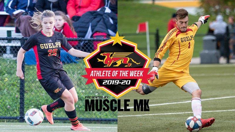 Erik Hermanns (MSCR) & Venessa Mazur (WSCR) Named Gryphon MUSCLE MLK Athletes of the Week