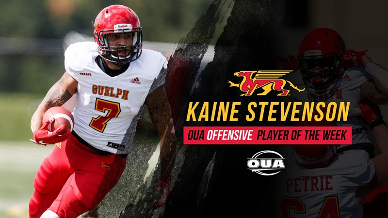 FB: Kaine Stevenson named OUA Offensive Player of the Week
