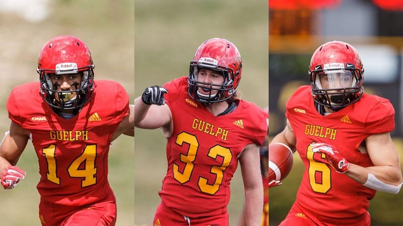 """Football Players of the Game: Barnes, Lauzon & Schaffer-Baker Named """"Players of the Game"""" for Week 3"""